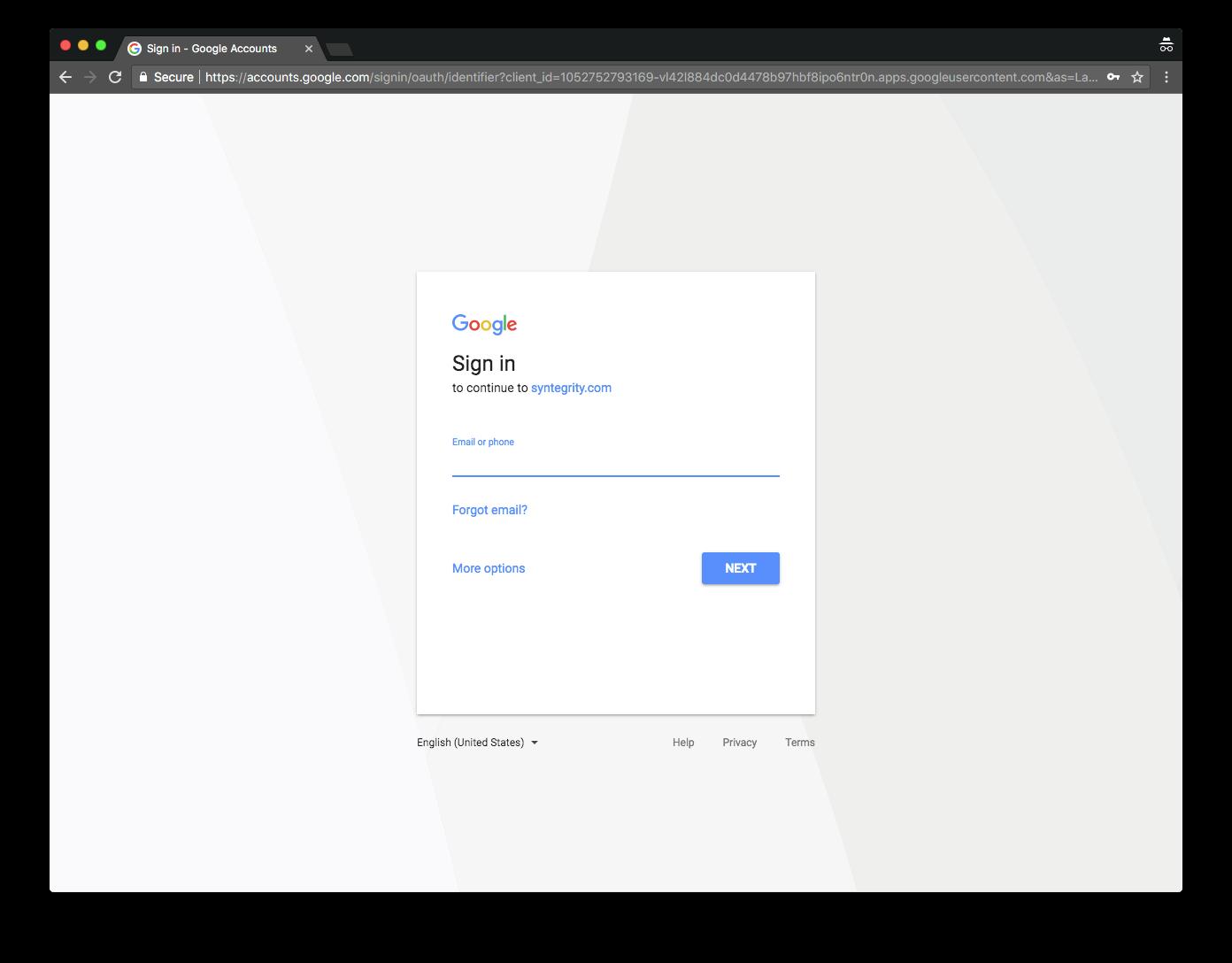 Google Setup