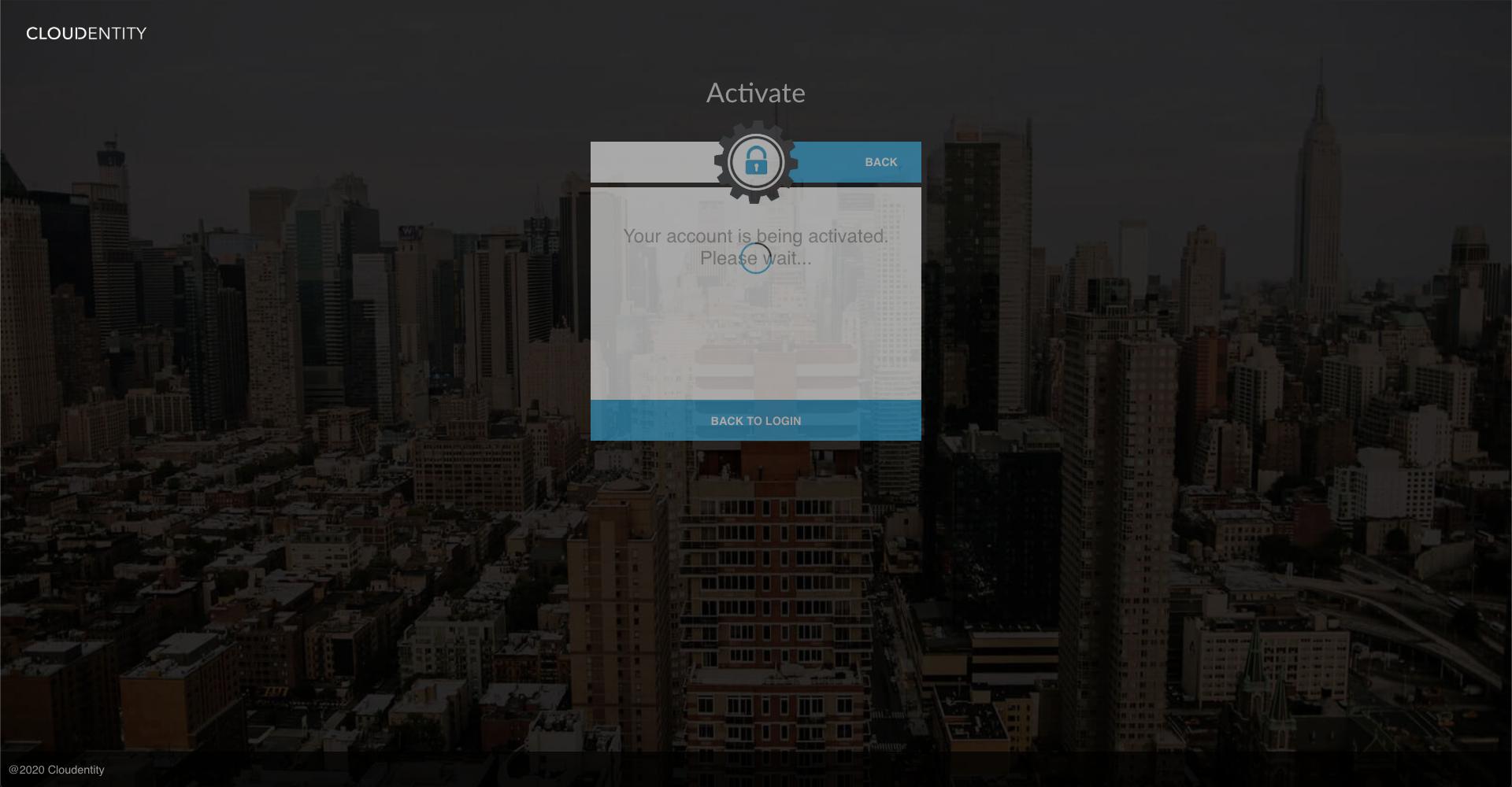 Account activating